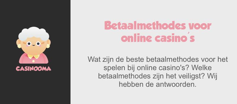 Betaalmethoden online casino