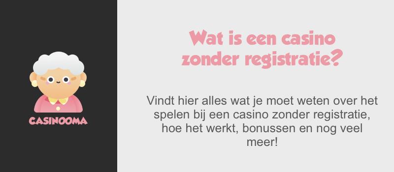 Online casino zonder registratie